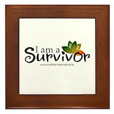 - I'm a survivor - Framed Tile