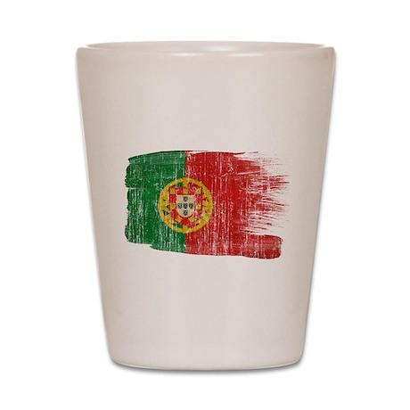 Portugal Flag Shot Glass