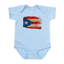 Puerto Rico Flag Infant Bodysuit