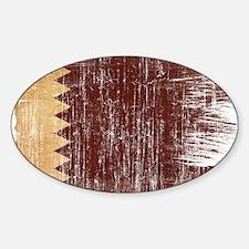 Qatar Flag Sticker (Oval)