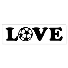 Soccer love Bumper Sticker