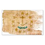 Rhode Island Flag Sticker (Rectangle 10 pk)