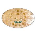 Rhode Island Flag Sticker (Oval 10 pk)