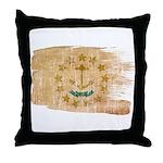 Rhode Island Flag Throw Pillow