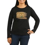 Rhode Island Flag Women's Long Sleeve Dark T-Shirt