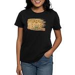 Rhode Island Flag Women's Dark T-Shirt