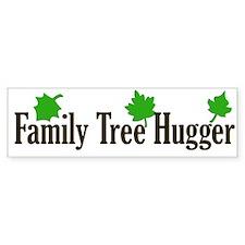 Family Tree Hugger Bumper Car Sticker