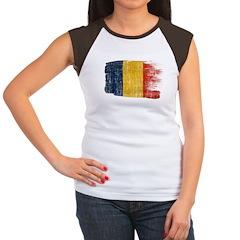Romania Flag Women's Cap Sleeve T-Shirt