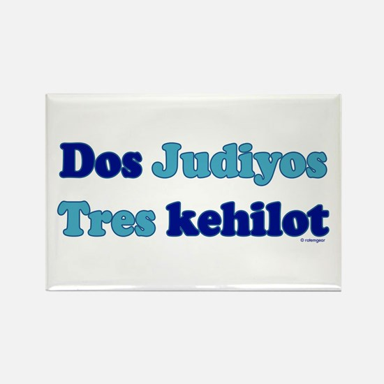 Dos Judiyos, Tres Kehilot Magnet (10 pack