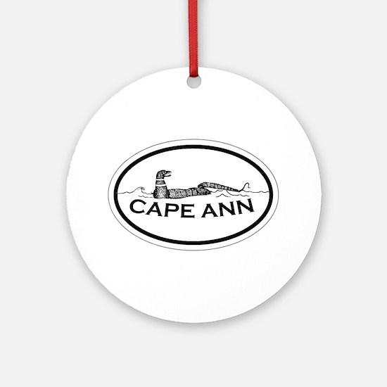 Cape Ann - Oval Design. Ornament (Round)