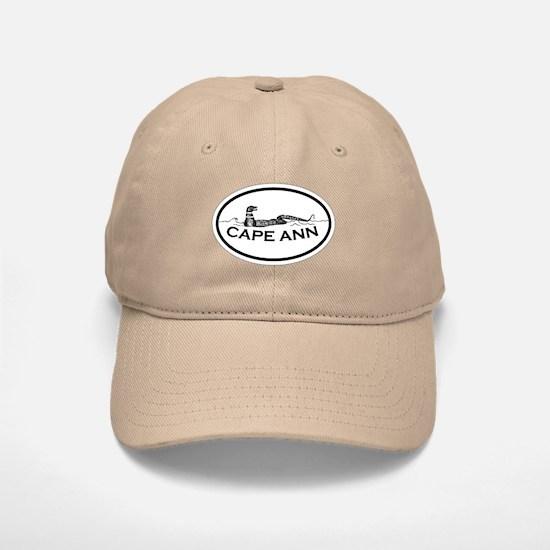 Cape Ann - Oval Design. Baseball Baseball Cap