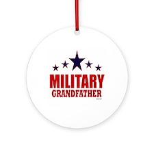 Military Grandfather Ornament (Round)