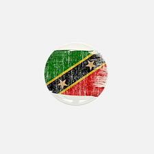 Saint Kitts Nevis Flag Mini Button