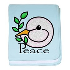Peace Dove baby blanket