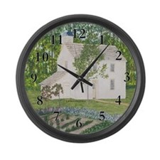 Country Garden Large Wall Clock