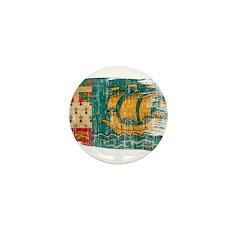 Saint Pierre and Miquelon Flag Mini Button (100 pa
