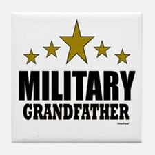 Military Grandfather Tile Coaster