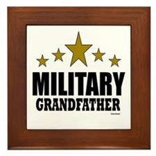 Military Grandfather Framed Tile