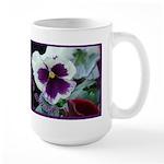 Pansies, Friends Always Large Mug
