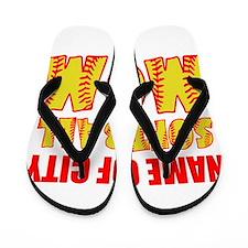Personalize Softball Mom Flip Flops