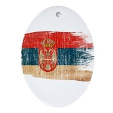 Serbia Flag Ornament (Oval)