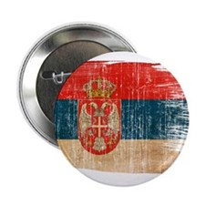 "Serbia Flag 2.25"" Button (10 pack)"