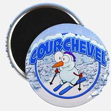 Courchevel Snowman Magnet