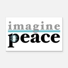 Imagine Peace Rectangle Car Magnet