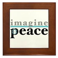 Imagine Peace Framed Tile