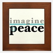 Imagine Peace Framed Tile