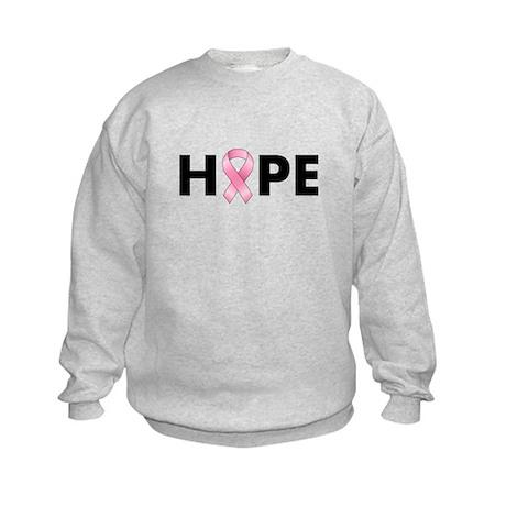 Breast Cancer Hope Kids Sweatshirt