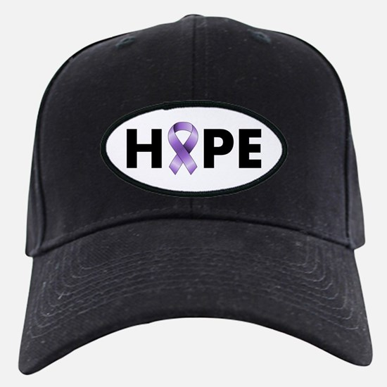 Purple Ribbon Hope Baseball Hat