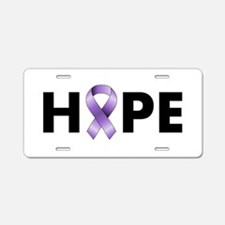 Purple Ribbon Hope Aluminum License Plate