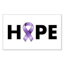 Purple Ribbon Hope Decal
