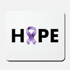 Purple Ribbon Hope Mousepad