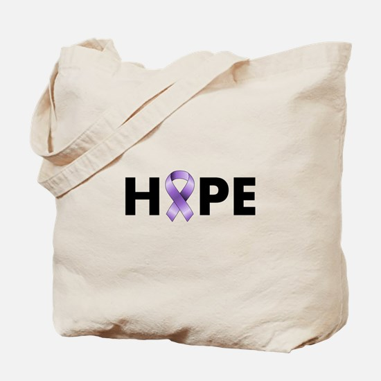 Purple Ribbon Hope Tote Bag