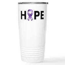 Purple Ribbon Hope Travel Mug