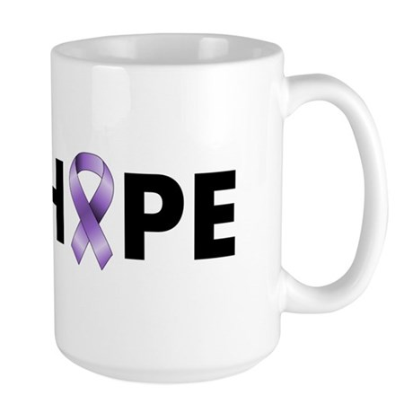 Purple Ribbon Hope Large Mug