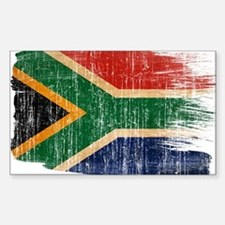South Africa Flag Sticker (Rectangle)