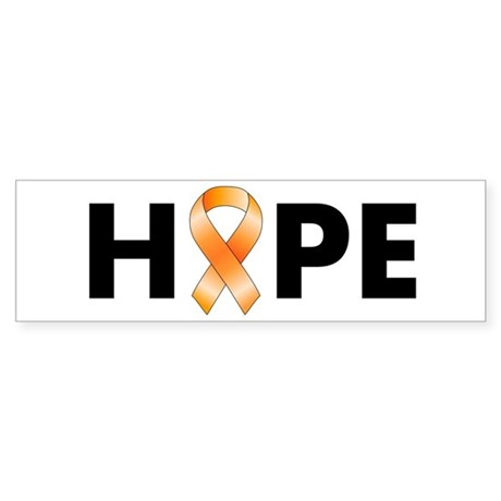 Orange Ribbon Hope Sticker (Bumper)