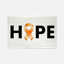 Orange Ribbon Hope Rectangle Magnet
