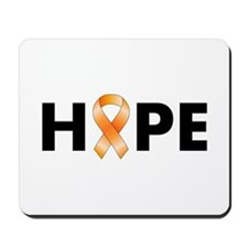 Orange Ribbon Hope Mousepad