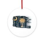 South Carolina Flag Ornament (Round)