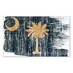 South Carolina Flag Sticker (Rectangle 50 pk)