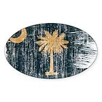 South Carolina Flag Sticker (Oval 50 pk)