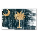 South Carolina Flag Sticker (Rectangle)
