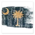 South Carolina Flag Square Car Magnet 3
