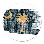South Carolina Flag Round Car Magnet