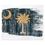 South Carolina Flag King Duvet