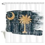 South Carolina Flag Shower Curtain